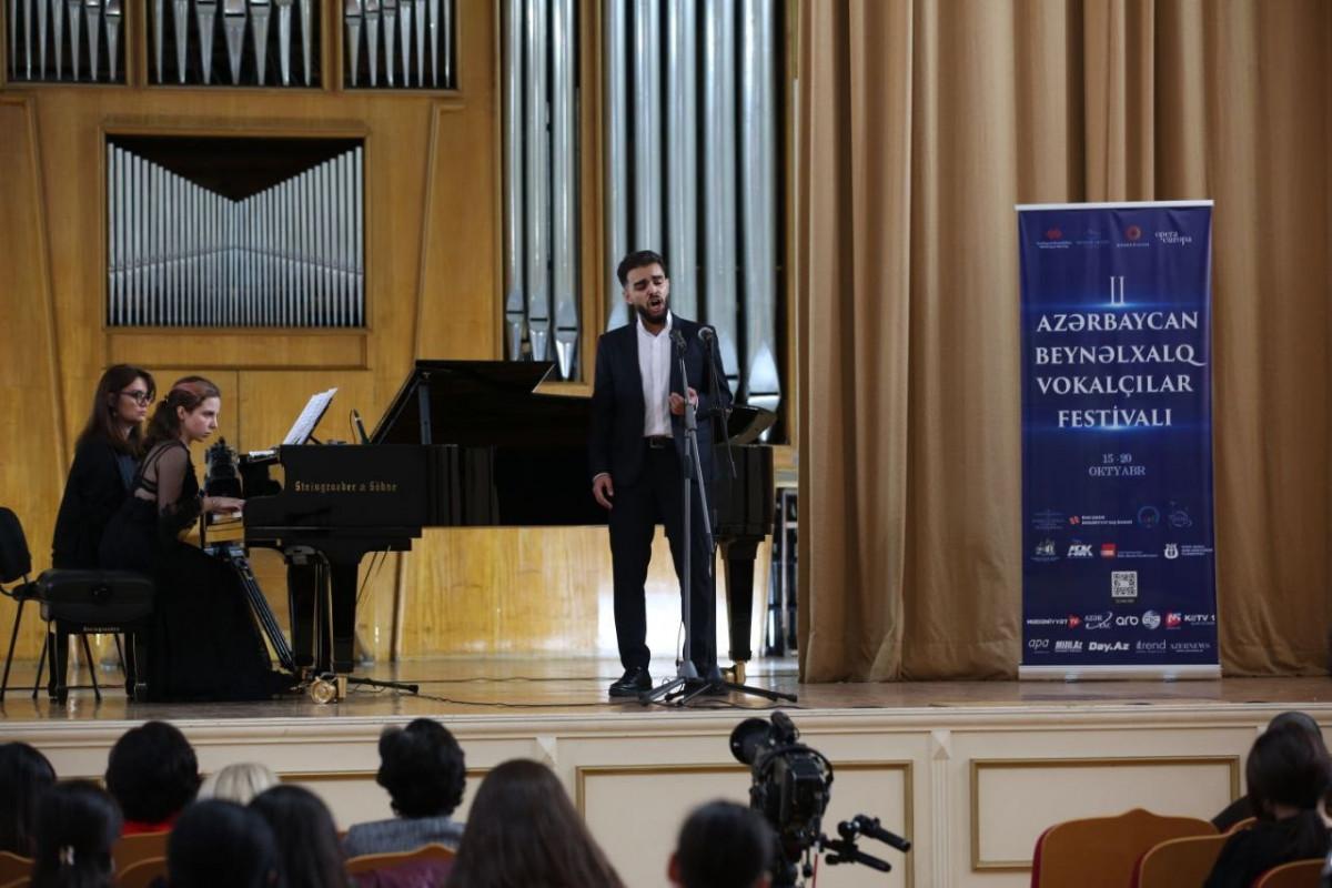 II Azərbaycan Beynəlxalq Vokalçılar Festivalı çərçivəsində növbəti tədbir