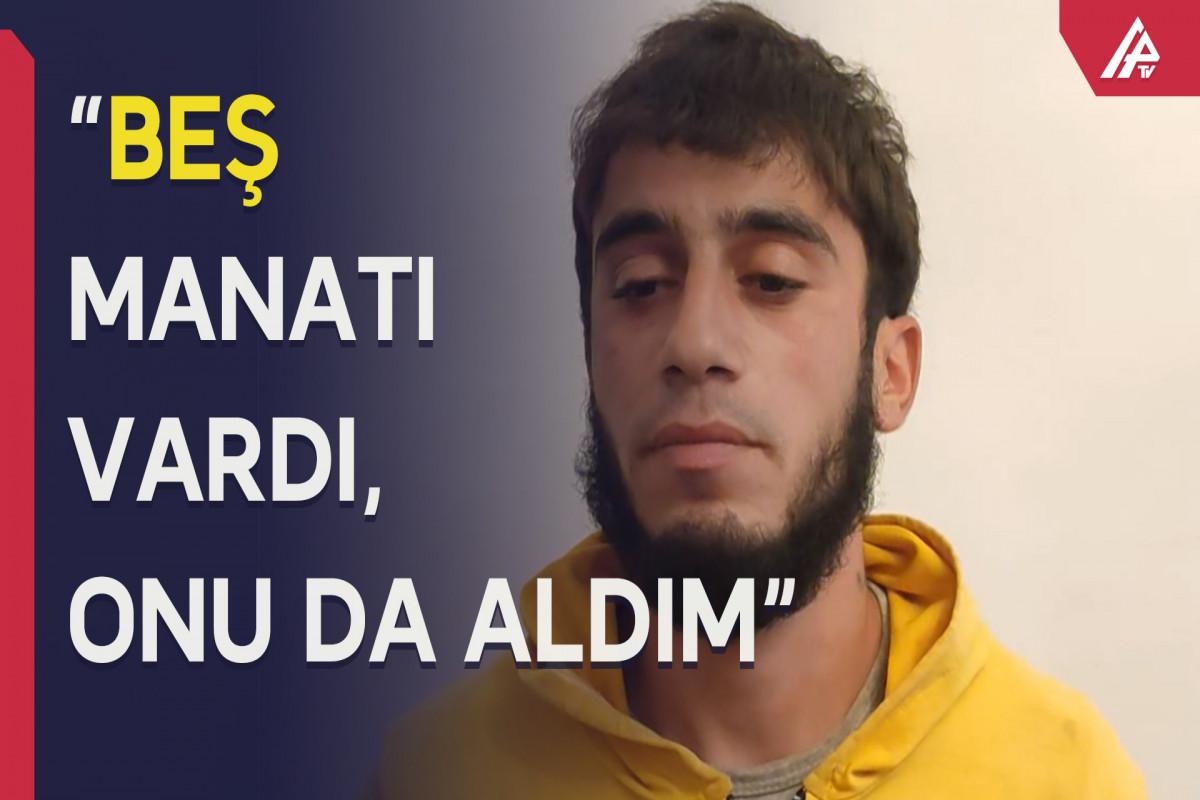Azyaşlının pulunu alıb, təhdid elədi