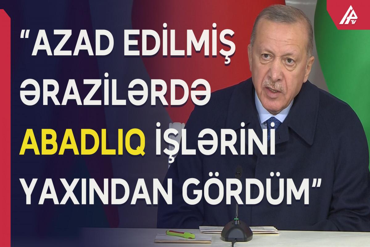 Ərdoğan Azərbaycana səfərindən danışdı
