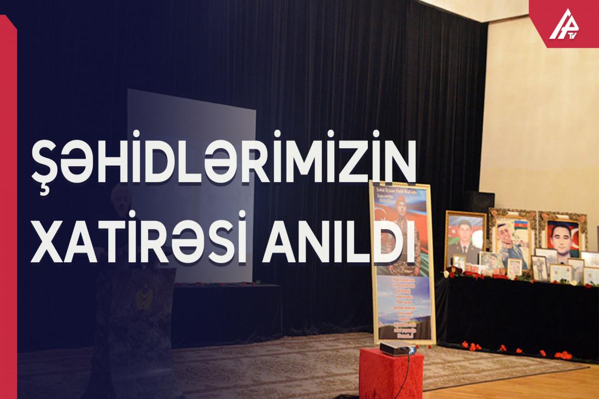 Şəhidlərimizin anım mərasimi keçirilib