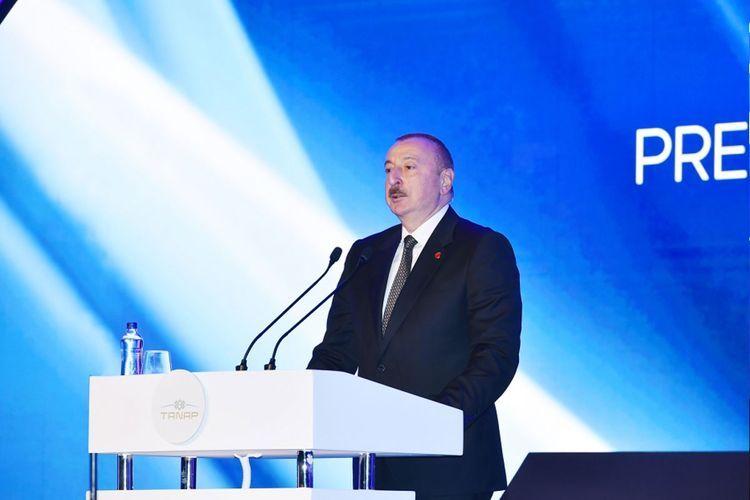Ильхам Алиев: Южный газовый коридор объединяет 7 стран, это уже проект международного сотрудничества