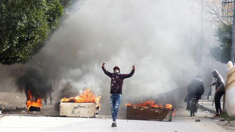 Tunisians protest in southern town after man sets himself alight