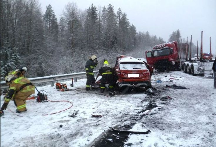 Rusiyada ağır yol qəzasında 3 nəfər ölüb, 1 nəfər yaralanıb