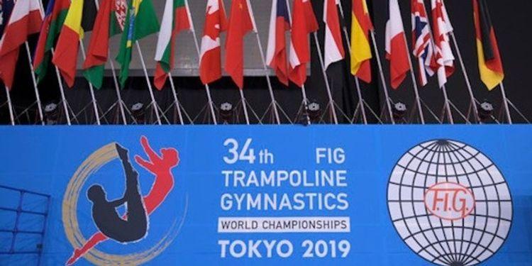 Flag of International Gymnastic Flag presented to Azerbaijan