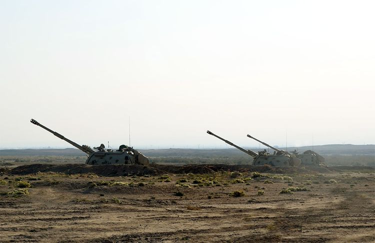 Tactical exercises of Rocket-artillery units are conducted - <span class=