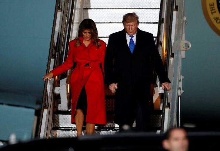 U.S. President trump arrives in London for NATO summit
