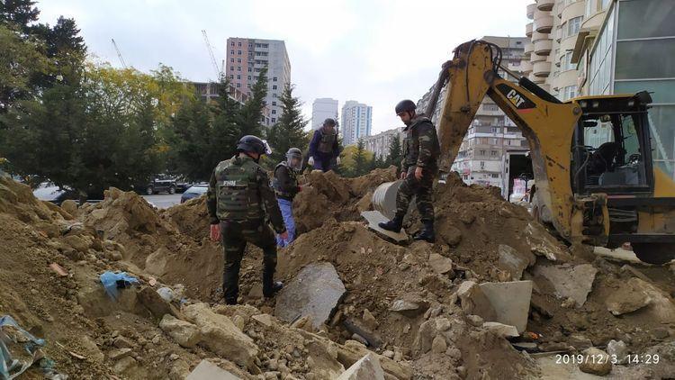 В Баку в подвале здания обнаружен артиллерийский снаряд