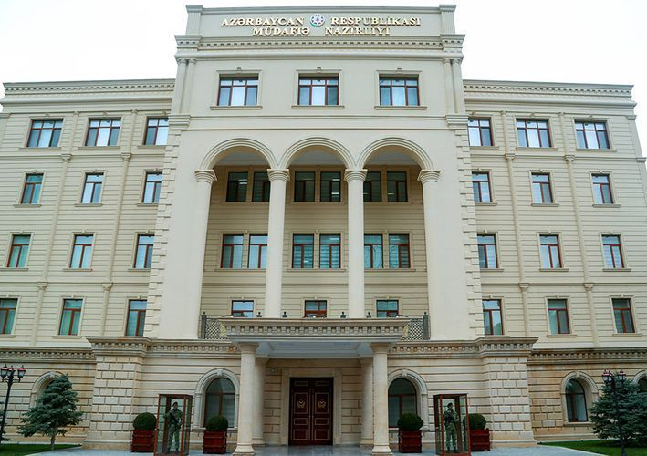 Defense Ministry comments on information about dropping balloon with plastic container in the territory of Goychay region