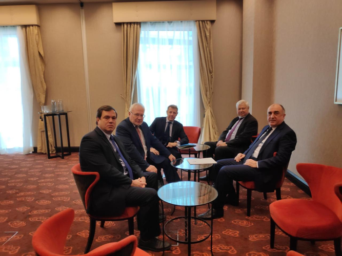 Meeting between Azerbaijani Foreign Minister and OSCE Minsk Group Co-Chairs starts
