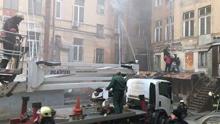При пожаре в одесском колледже пострадали 26 человек