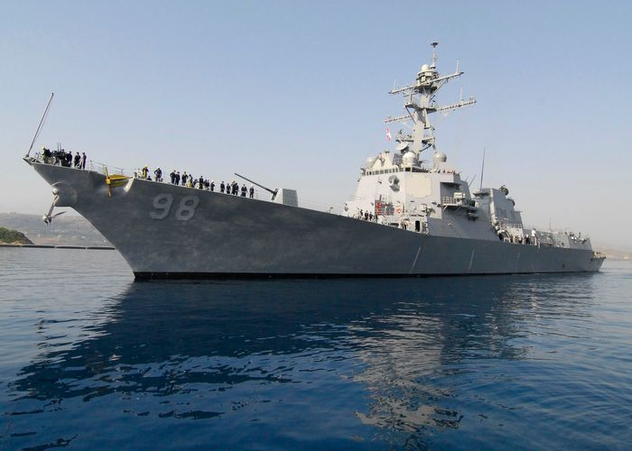 U.S. Navy warship seized missile parts suspected to be linked to Iran: officials