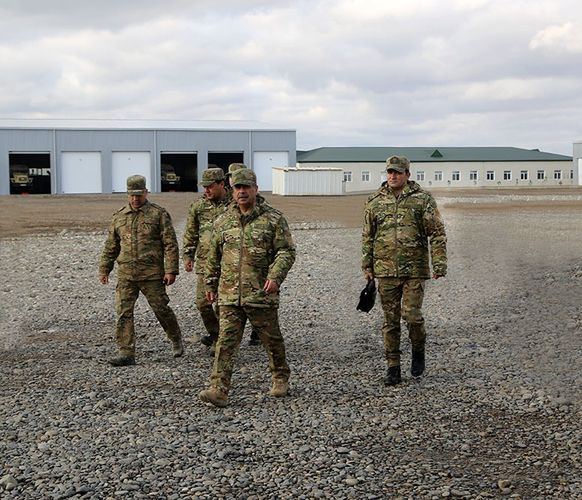 Defense Minister of Azerbaijan inspected  combat readiness of artillerymen in the frontline zone  - VIDEO