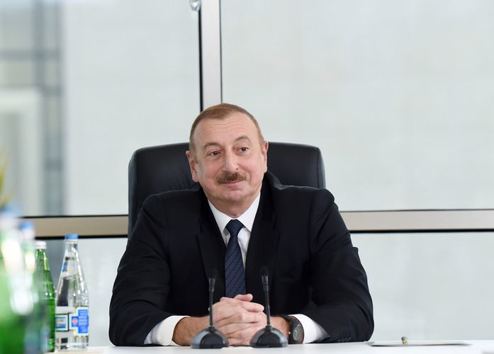 """President Ilham Aliyev attended opening of """"ASAN Həyat"""" complex in Shamakhi"""