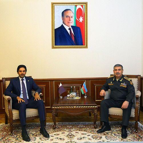 Закир Гасанов обсудил с послом проведение азербайджано-турецко-катарских совместных военных учений