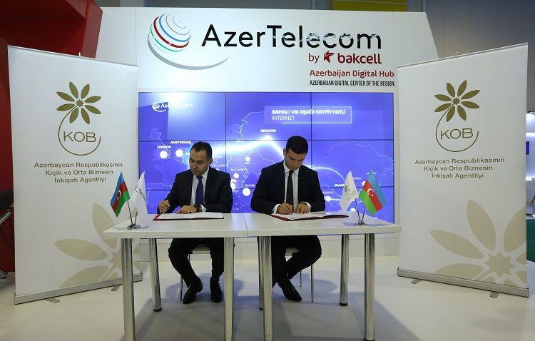 """""""AzerTelecom"""" və KOBİA arasında əməkdaşlığa dair protokol imzalanıb - FOTO"""