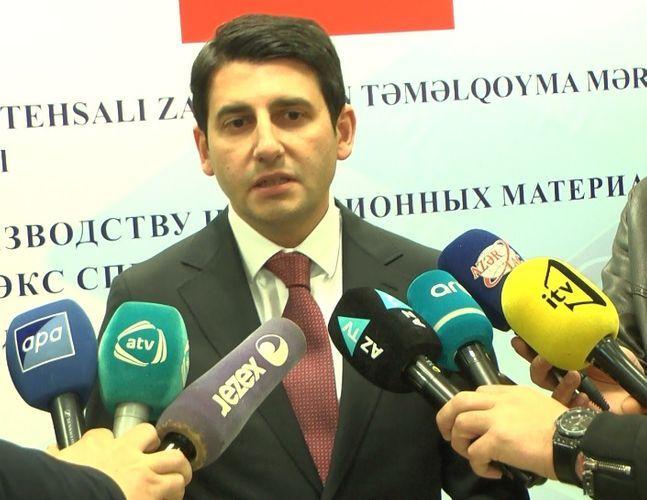 Азер Талыбов: Новый завод в Гаджигабуле планируется сдать к концу I квартала 2020 года