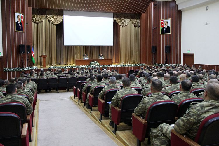 Training sessions were conducted with the command staff of the Azerbaijan Army