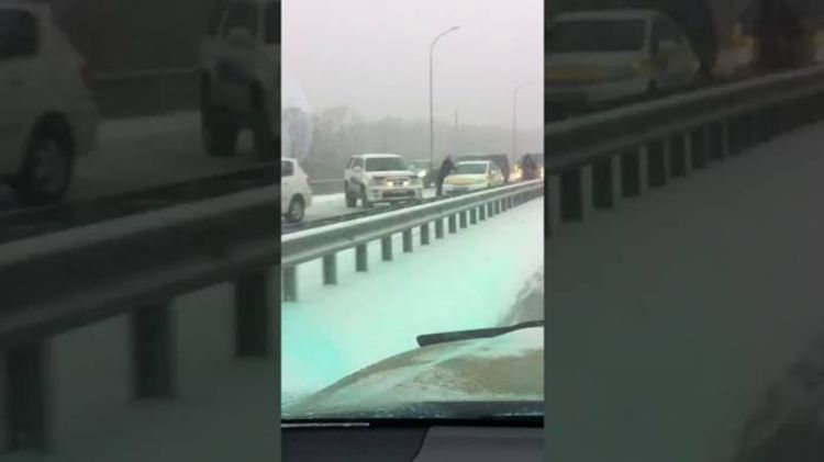 Rusiyada zəncirvarı qəzada 48 avtomobil toqquşub