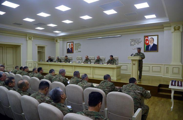 Закир Гасанов дал поручения по повышению боеспособности войск