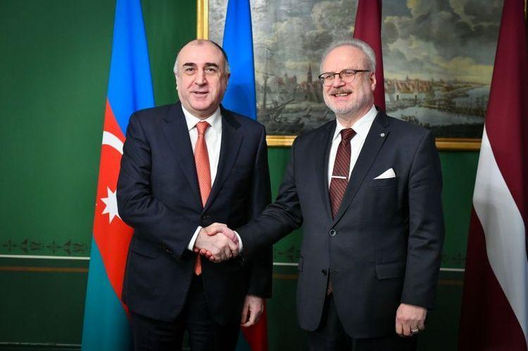 Эльмар Мамедъяров обсудил карабахский конфликт с президентом Латвии - ОБНОВЛЕНО
