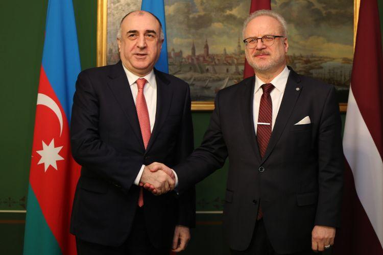 Azerbaijani FM meets with Latvian President - UPDATED