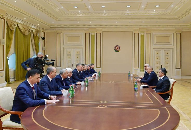 President Ilham Aliyev receives the governor of the Astrakhan region