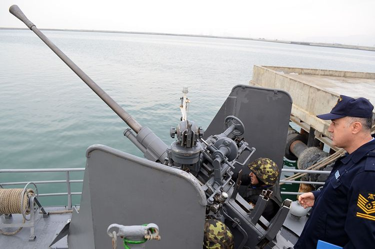 Turkish delegation oversees training exercises of the Naval Forces of Azerbaijan