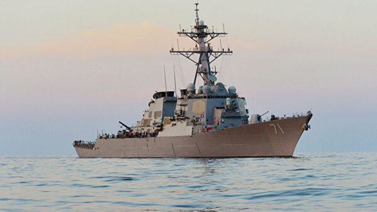 Американский эсминец  «Росс» вошел в Черное море