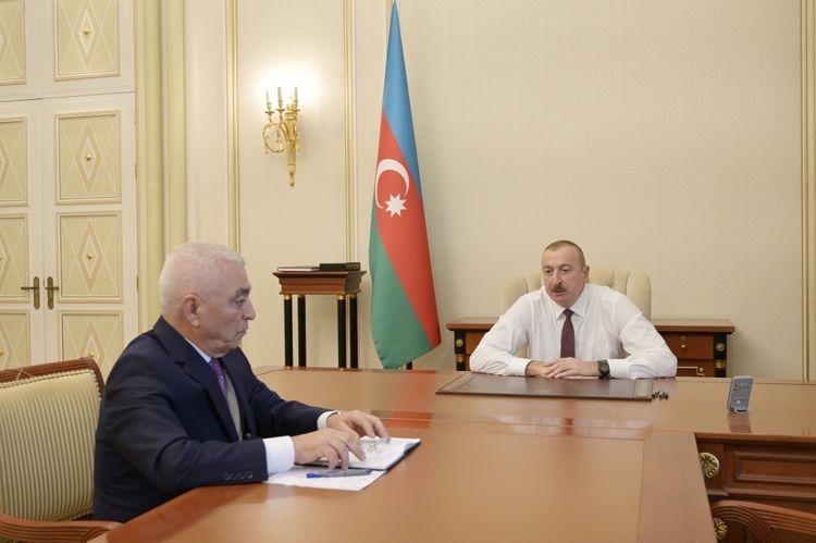Президент Ильхам Алиев принял главу ОАО «Азерэнержи»  - ОБНОВЛЕНО