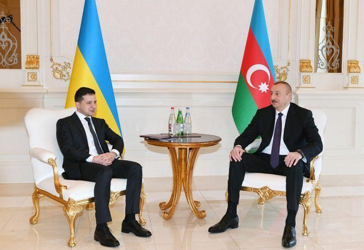 Azerbaijani, Ukrainian presidents made press statements - <span class=
