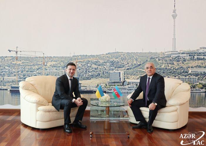 Azerbaijani Prime Minister, Ukrainian President have joint working dinner