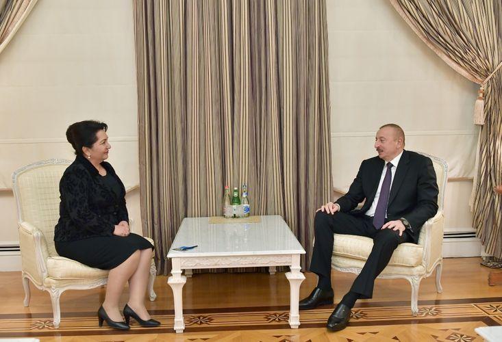 President Ilham Aliyev received chairperson of Senate of Uzbek Oliy Majlis - <span class=