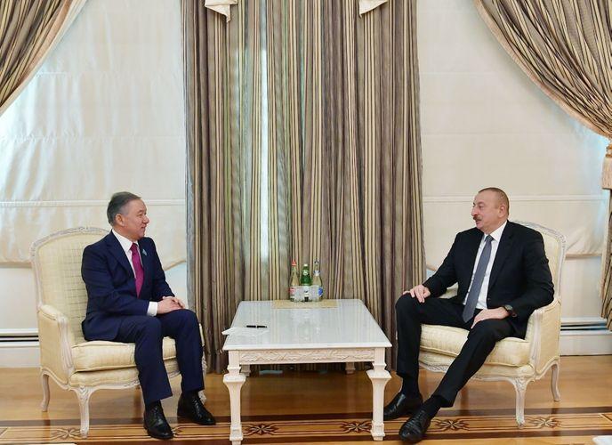 President Ilham Aliyev received Chairman of Mazhilis of Kazakh Parliament