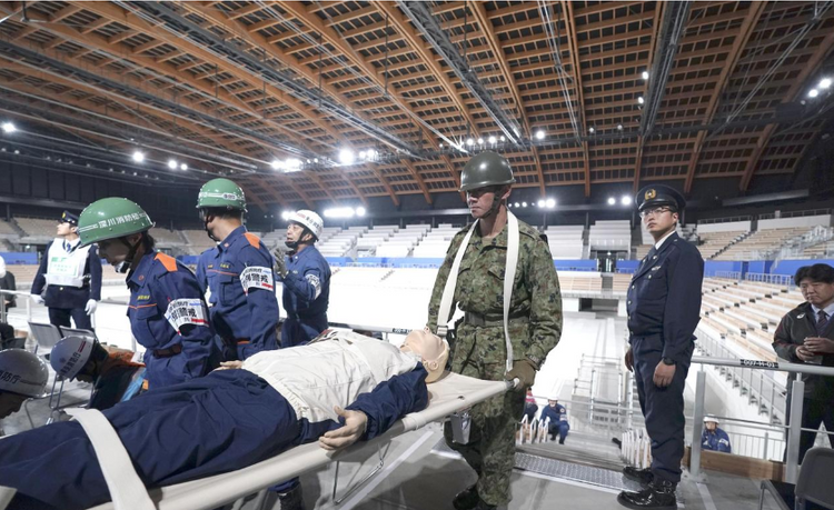Tokyo 2020 organizers hold earthquake drill at Olympics venue
