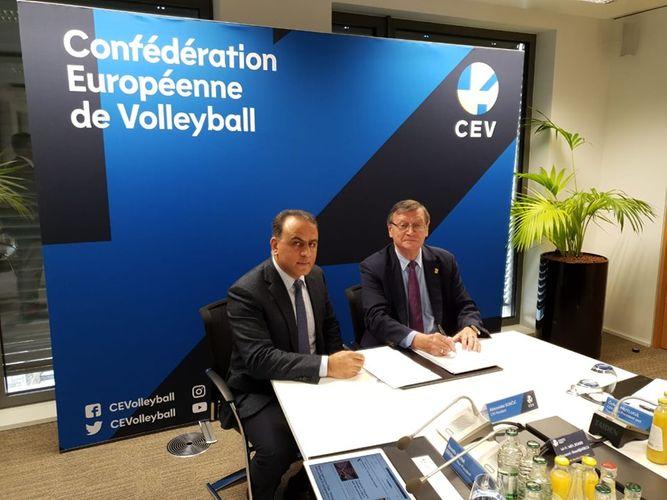 Azərbaycan Voleybol Federasiyası Avropa Voleybol Konfederasiyası ilə müqavilə imzalayıb