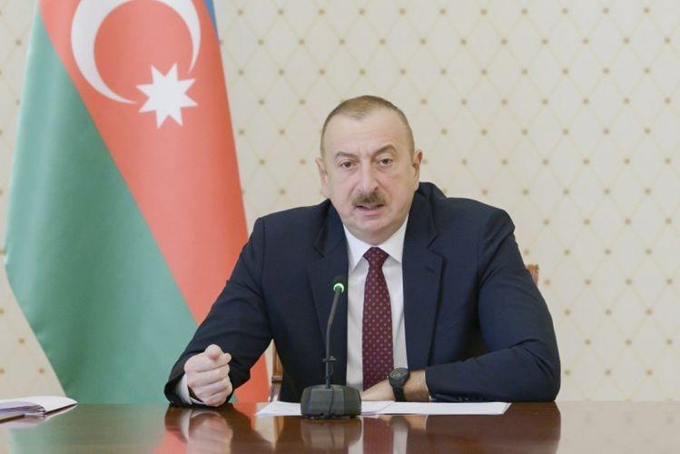 Ильхам Алиев: В результате преступной деятельности тандема НФА-Мусават наша страна оказалась на краю пропасти