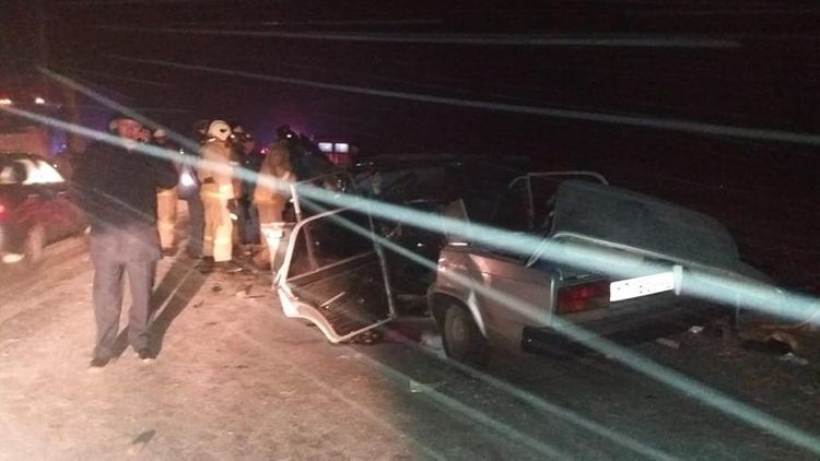 Four policemen died in traffic accident on highway in Russia