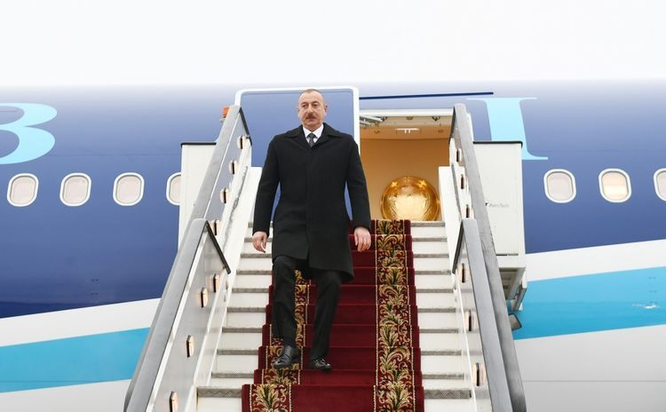 President Ilham Aliyev arrived in Russian Federation for visit