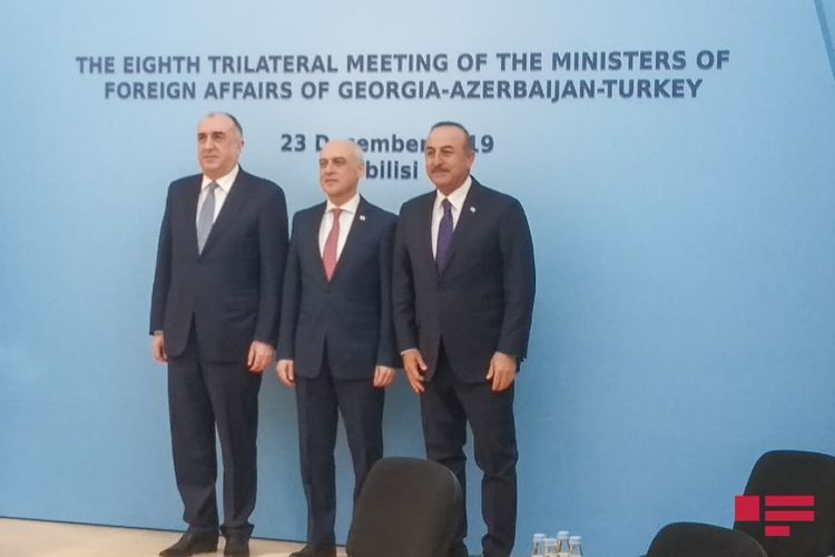 Meeting of Azerbaijani, Turkish and Georgian FMs ends  - UPDATED