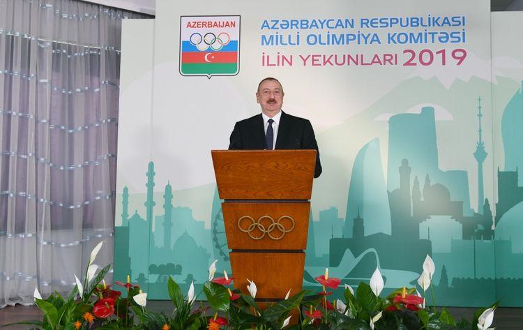 """Prezident İlham Əliyev: """"İdmançılarımız beynəlxalq idman yarışlarında 775 medal qazanıblar, onlardan 271-i qızıldır"""""""