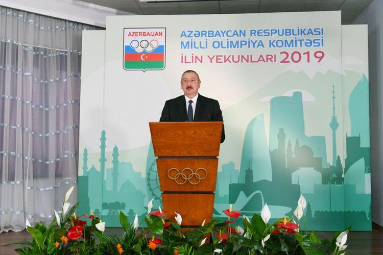 Президент Азербайджана Ильхам Алиев принял участие в церемонии, посвященной спортивным итогам 2019 года - ОБНОВЛЕНО