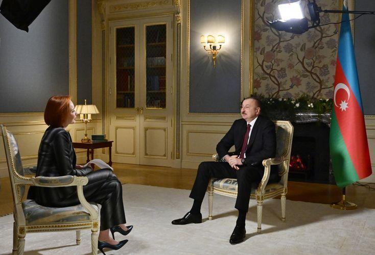 President Ilham Aliyev was interviewed by Rossiya-24 TV channel