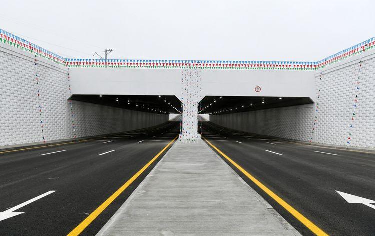 Prezident İlham Əliyev Pirşağıda avtomobil tunelinin açılışında iştirak edib - <span class='red_color'>YENİLƏNİB</span>