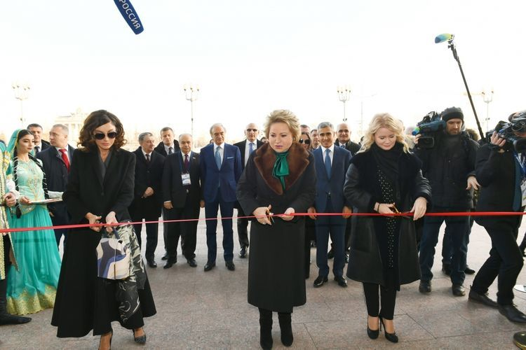 First Vice-President Mehriban Aliyeva attended opening ceremony of rebuilt Azerbaijan pavilion at Exhibition of Achievements of National Economy in Moscow - UPDATED