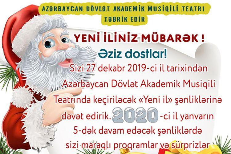 Akademik Musiqili Teatr Yeni il tamaşalarının hazırlığına başlayıb