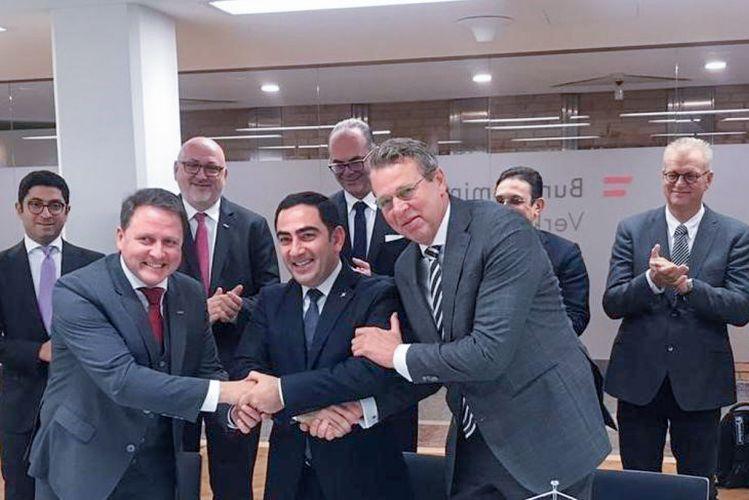 """Bakı Limanı, """"ÖBB Rail Cargo Group"""" və """"Venlo Logistik Qovşağı"""" arasında Anlaşma Memorandumu imzalanıb"""