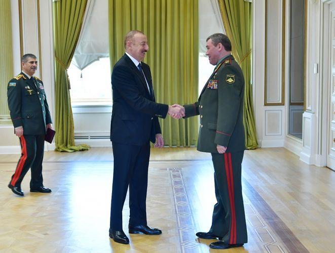 Президент Ильхам Алиев принял начальника генштаба ВС РФ - ОБНОВЛЕНО