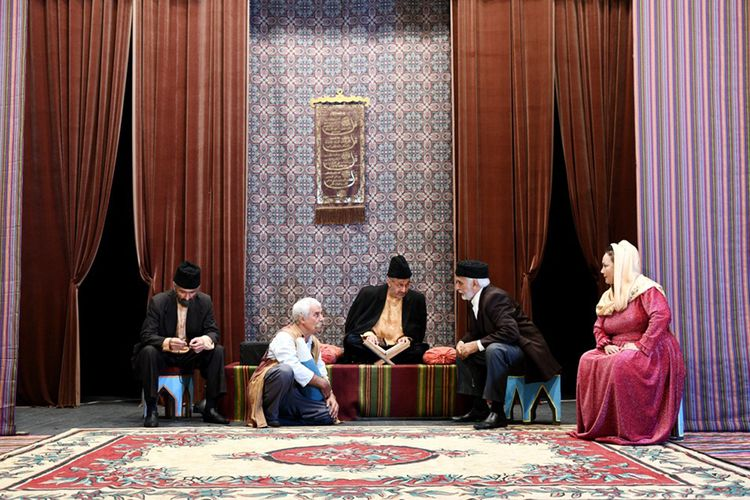 """Rus Dram Teatrında """"Vəfalı Səriyyə, yaxud göz yaşı içində gülüş"""" tamaşası nümayiş olunub"""