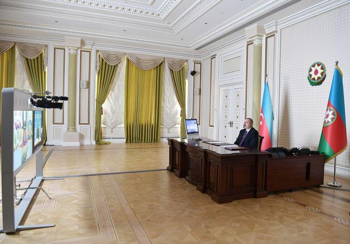 Президент: Несмотря на негативное влияние пандемии, в первые три месяца 2020 года из тюркоязычных стран через Азербайджан было перевезено более 180 тысяч тонн грузов