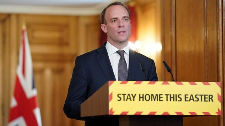 Lockdown in UK to be in place until at least 7th of May, says Foreign Secretary Raab